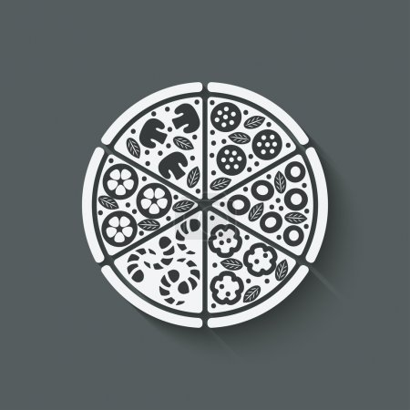 Illustration pour Élément de conception de pizza illustration vectorielle. eps 10 - image libre de droit