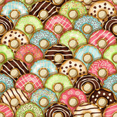 Donuts seamless pattern - vector illustration eps 10