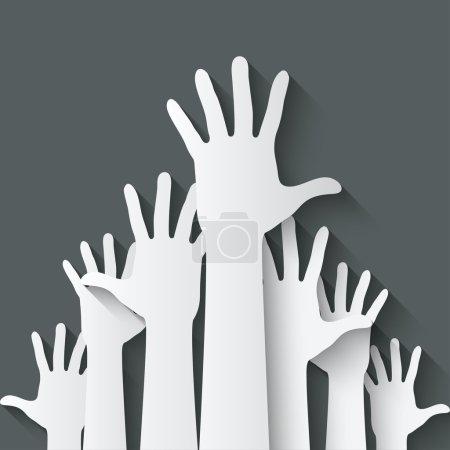 hands up symbol
