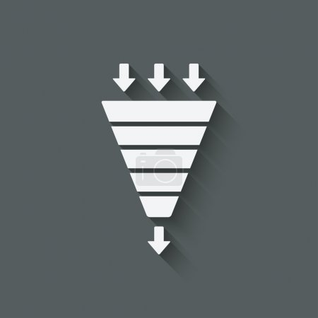marketing funnel symbol