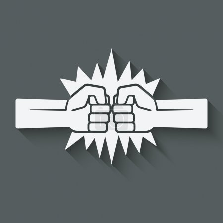 punch fists fight symbol