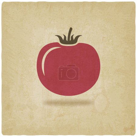 tomato symbol old background