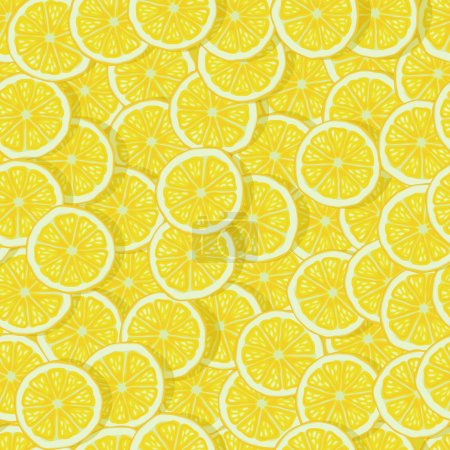 Illustration for Bright lemon slices seamless pattern. vector illustration - eps 10 - Royalty Free Image