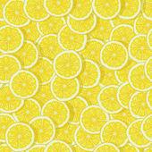 bright lemon slices seamless pattern
