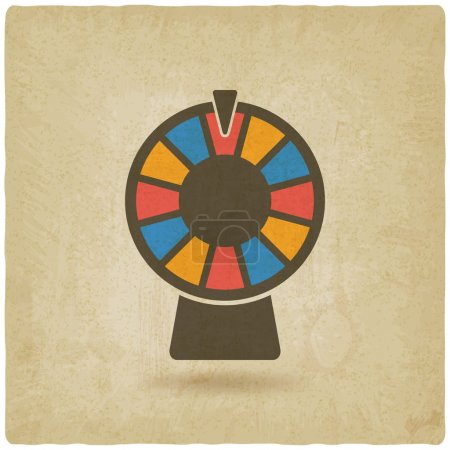 Illustration for Wheel of fortune old background. vector illustration - eps 10 - Royalty Free Image