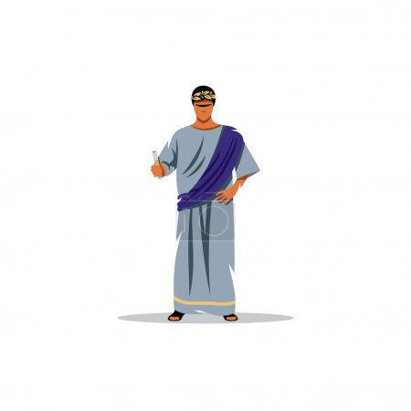 Roman philosopher. Vector Illustration.