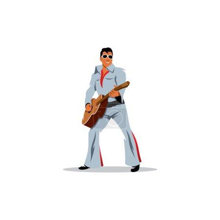 Musician artist with a guitar