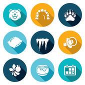 Bear Icons Set Vector Illustration