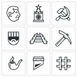 Vector Isolated Flat Icons collection on a white b...
