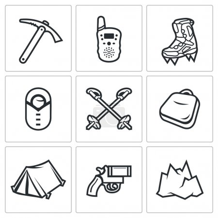 Illustration for Vector Isolated Flat Icons collection on a white background for design - Royalty Free Image