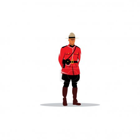 Mountie sign. Canada police. Vector Illustration.