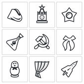 Symbols of Russia Historic building event souvenir ideology music instrument industry