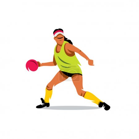 Photo pour Femme se préparant à lancer la balle. Isolé sur fond blanc - image libre de droit