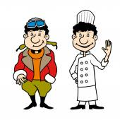 Character pilot and chef set