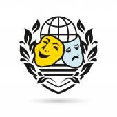Identity corporate logo Isolated on white background Theater symbol
