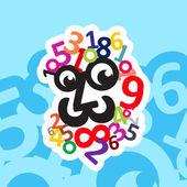 Digital head logo
