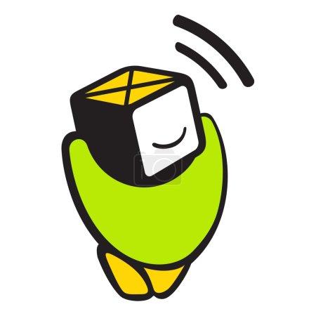 Sensor cartoon logo