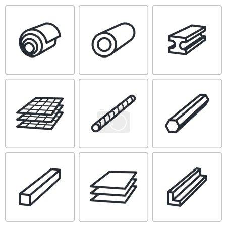 Métallurgie, produits icônes définies
