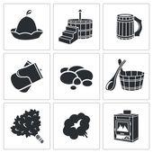 Bath Accessories Icons Set