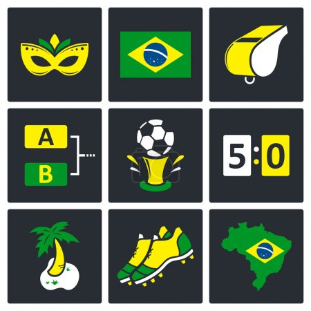 Soccer game Icons set
