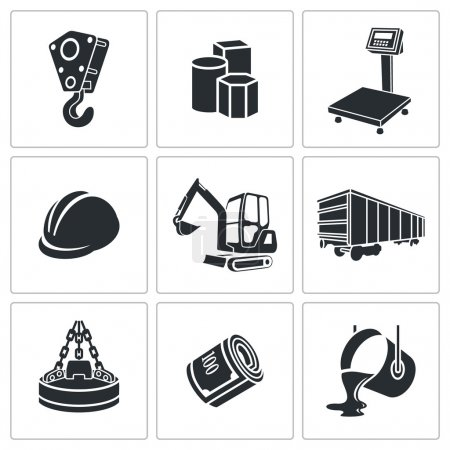 Metallurgy Icons set
