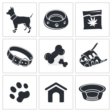 Doggy, puppy icons set