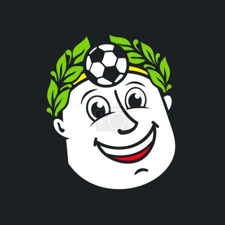 Soccer god head sign