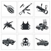 Armament weapon Icon set