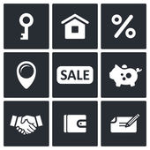 Immobilien-Deal-Symbole