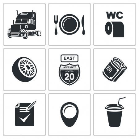 Truck, transportation  Icon Set