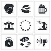 Germany nation Icons set