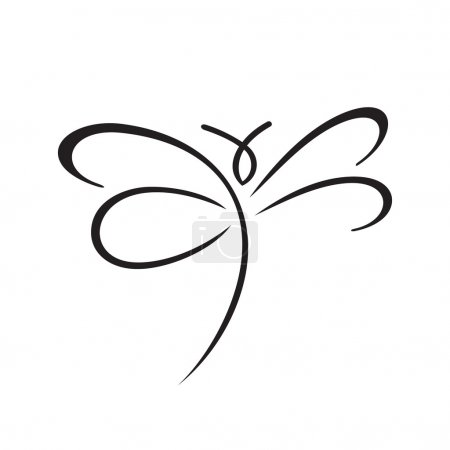 Abstract Butterfly sign