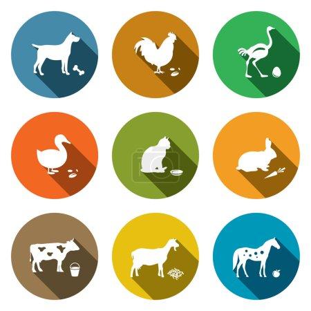 Sammlung von Haustieren, Tiersymbolen