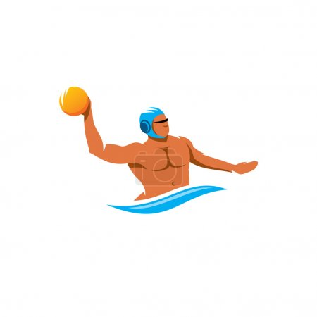 Water polo player  sign