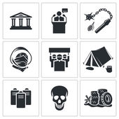 Street protests demonstration    icon set