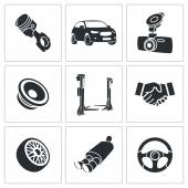 Car Repairs and Maintenance Icon set