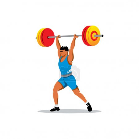 Weightlifting athlete sign