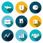 Business finance flat icons set