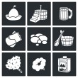 Постер, плакат: Bath and sauna Icons Set