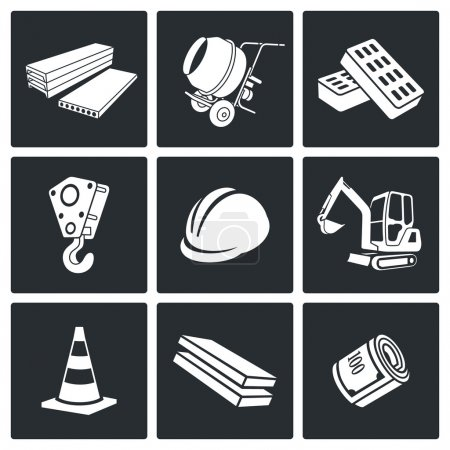 Building, construction   Icons Set