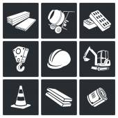 Building construction   Icons Set