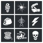 Electrical Company Icons set