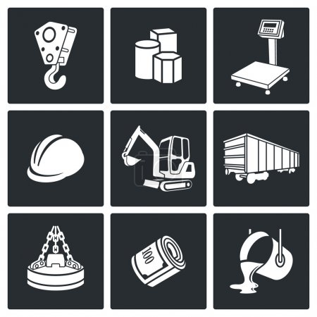 Metals Recycling Icons set