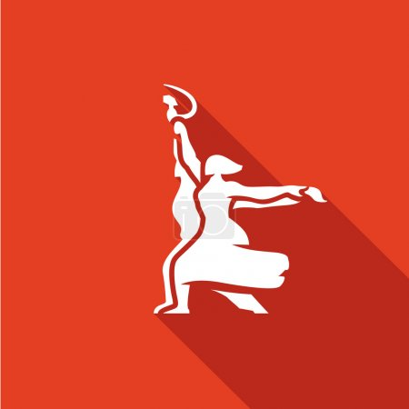 Worker and Collective Farmer soviet icon