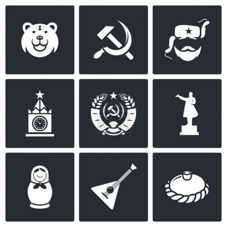 Russia  country Vector Isolated Flat Icons collect...