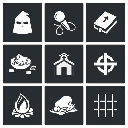 False religion, sect icons.