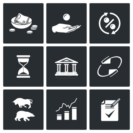 Loan icons set