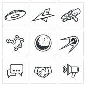 Aliens search Contact icons