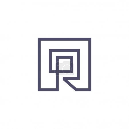 Sign of  letter R logo