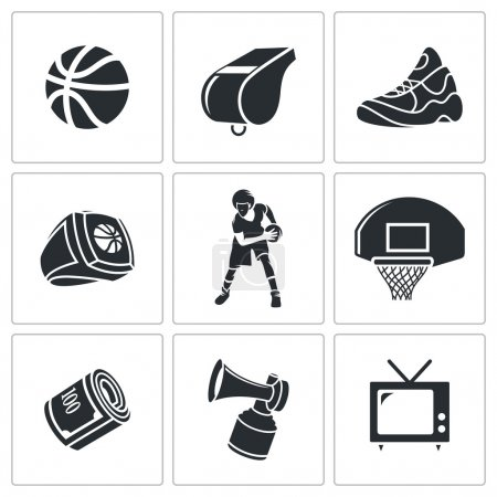 Basketball sport   Icons Set